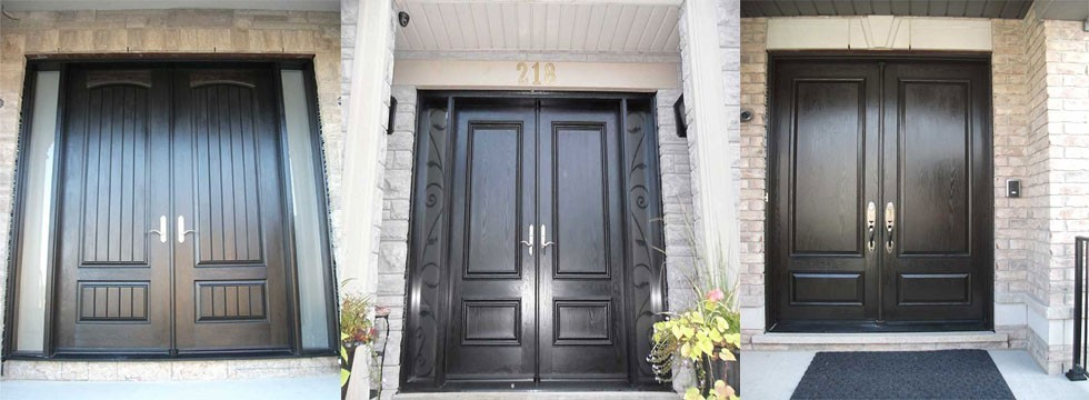 Fiberglass Double Doors installed by Fiberglass Doors Toronto Group