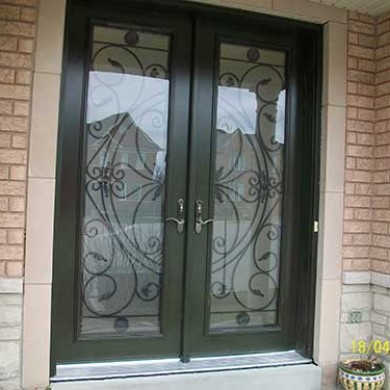 4-Julietta Smooth Front Fiberglass Doors installed in Richmondhill by Fiberglass Doors Toronto