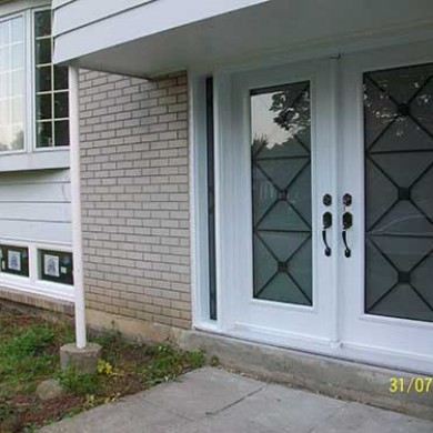 6-Excalibur Smooth Fiberglass Double Doors with Multi Point Locks and Side Lights by Fiberglass Doors Toronto