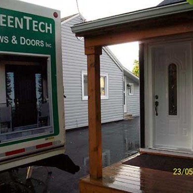 8-Exterior Smooth Fiberglass Door with Multi Point Locks installed by Fiberglass Doors Toronto