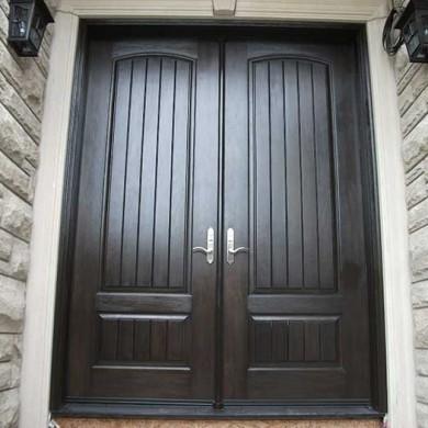 8-Foot-Fiberglass Doors, Exterior Double-Solid-Parliament-Doors-with-Multi-Point-Locks-Installed- by Fiberglass Doors Toronto in-Burlington