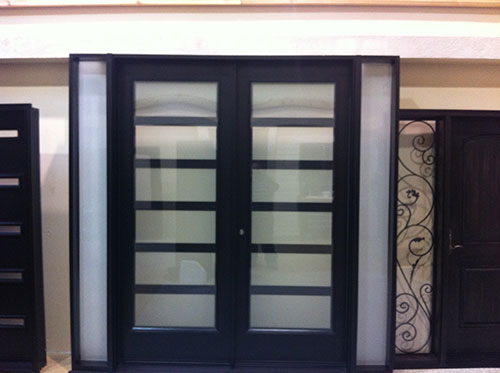 Fiberglass doors toronto 8 foot fiberglass doors 8 foot fiberglass doors exterior modern doors with 2 side lites and frosted glass installed planetlyrics Image collections