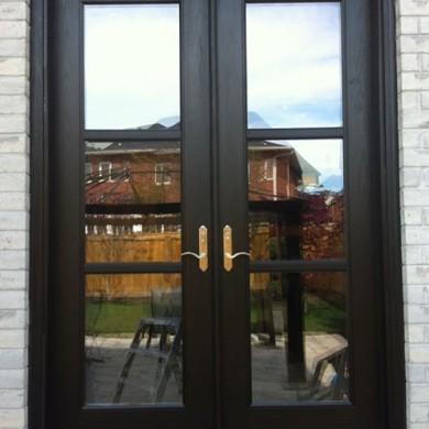 8 Foot Fiberglass Doors, Frech Doors installed by Fiberglass Doors Toronto