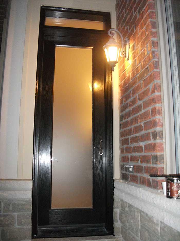 foot fiberglass doors glass design single back yard door with