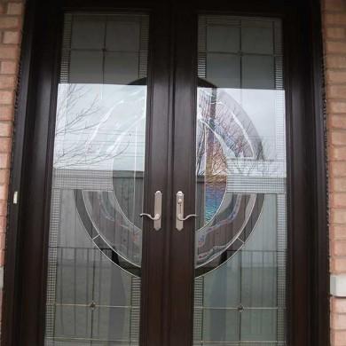 8-Foot-Fiberglass Doors, Milan-Design-Exterior Door-Installed- by Fiberglass Doors Toronto in-Woodbridge