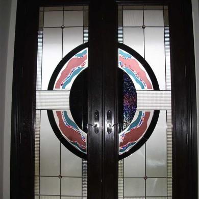 8-Foot-Fiberglass Doors Milan-Design-Exterior Door-Installed- by Fiberglass Doors Toronto in-Woodbridge-Inside-View
