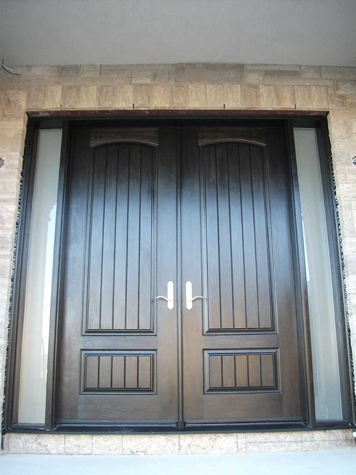 8 Foot Fiberglass Doors, Rustic Parliament Exterior Doors With