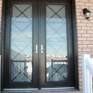 8 Foot Fiberglass Doors-with-Multi-Point-Locks-Installed- by Exterior Doors Toronto in-Vaughan