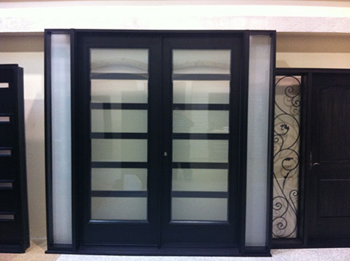Fiberglass doors toronto 8 foot fiberglass doors for Modern front double door designs for houses