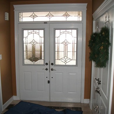 Exterior Double Doors - before installation inside view