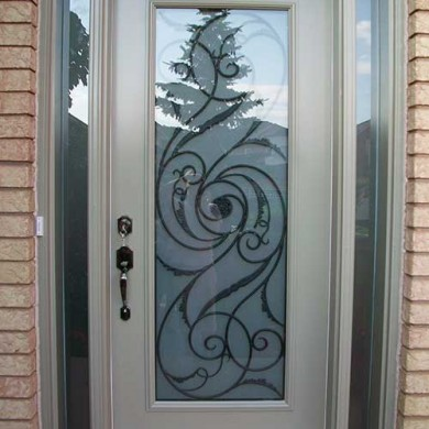 Exterior Smooth Fiberglass Door with Multi Point Locks installation by Fiberglass Doors Toronto
