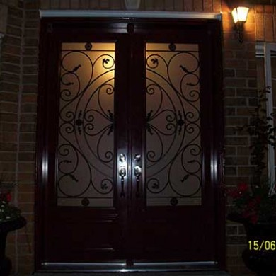 Exterior Smooth Fiberglass Doors installed by Fiberglass Doors Toronto