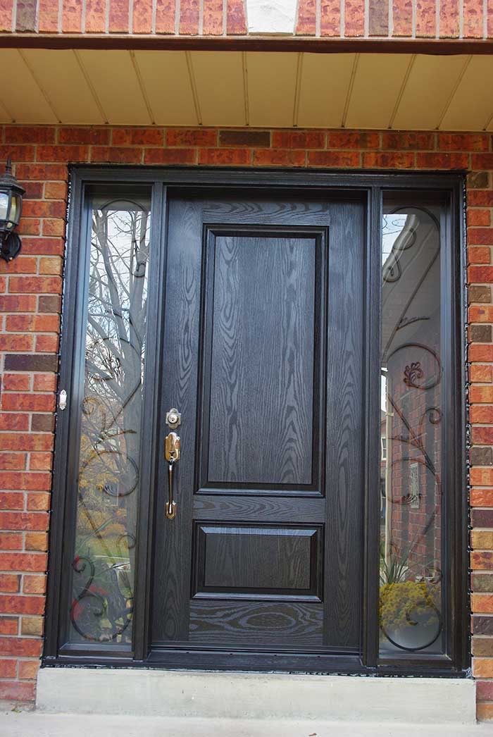 Single Fiberglass Door : Fiberglass doors toronto wood grain