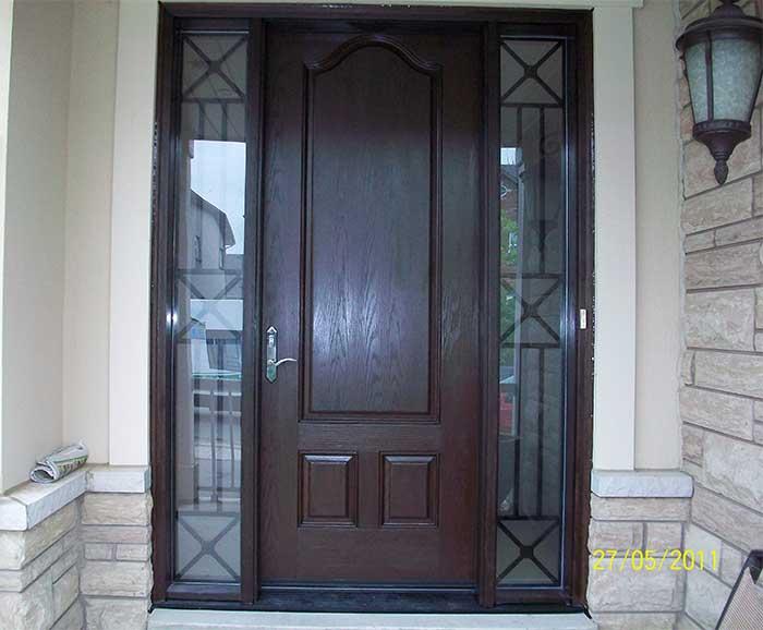 Fiberglass doors toronto wood grain fiberglass doors for Fiberglass front doors