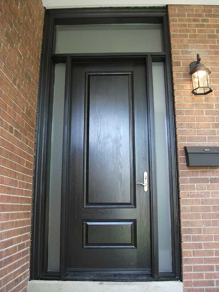 Fiberglass doors toronto executive fiberglass doors for Single front entry doors