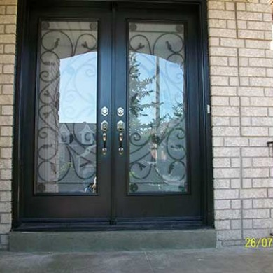 Jullietta Smooth Fiberglass Doors with Multi Points locks installed by Fiberglass Doors Toronto
