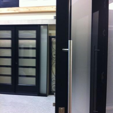 Multi Point Locks System Installation on Modern Fiberglass Door by Fiberglass Doors Toronto