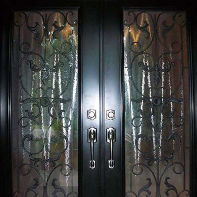 Primvera Smooth Fiberglass Double Doors installation by Fiberglass Doors Toronto