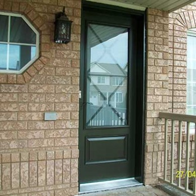 Smooth Exterior Fiberglass Door, Excalibur Design Installed by Fiberglass Doors Toronto