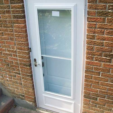 Smooth Exterior Fiberglass Door Installed by Fiberglass Doors Toronto