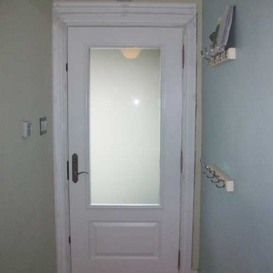 Smooth Exterior Fiberglass Door installed in Oshawa by Fiberglass Doors Toronto- Inside View