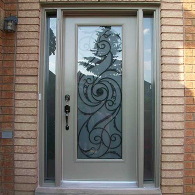 Smooth Exterior Fiberglass Door with Multi Point Locks installation by Fiberglass Doors Toronto