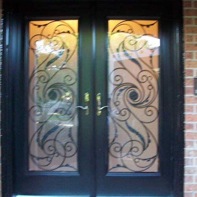 Smooth Exterior Fiberglass Julleitta Design with Multi Point Locks Installed by Fiberglass Doors Toronto