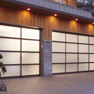 Aluminum and Glass Garage Doors Installation by Garage Experts