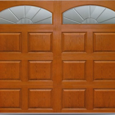 Fiberglass Woodgrain Garage Doors installed by Garage Experts