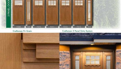 Richerson MasterGrain Premium Fiberglass Entry Doors- Richerson Craftsman Fir Collection-Craftsman Fir Grain by Fiberglass Doors Toronto