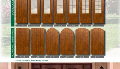 Richerson MasterGrain Premium Fiberglass Entry Doors- Richerson Rustic Cherry Collection-Rustic 2 Panel Cherry ENtry System by Fiberglass Doors Toronto