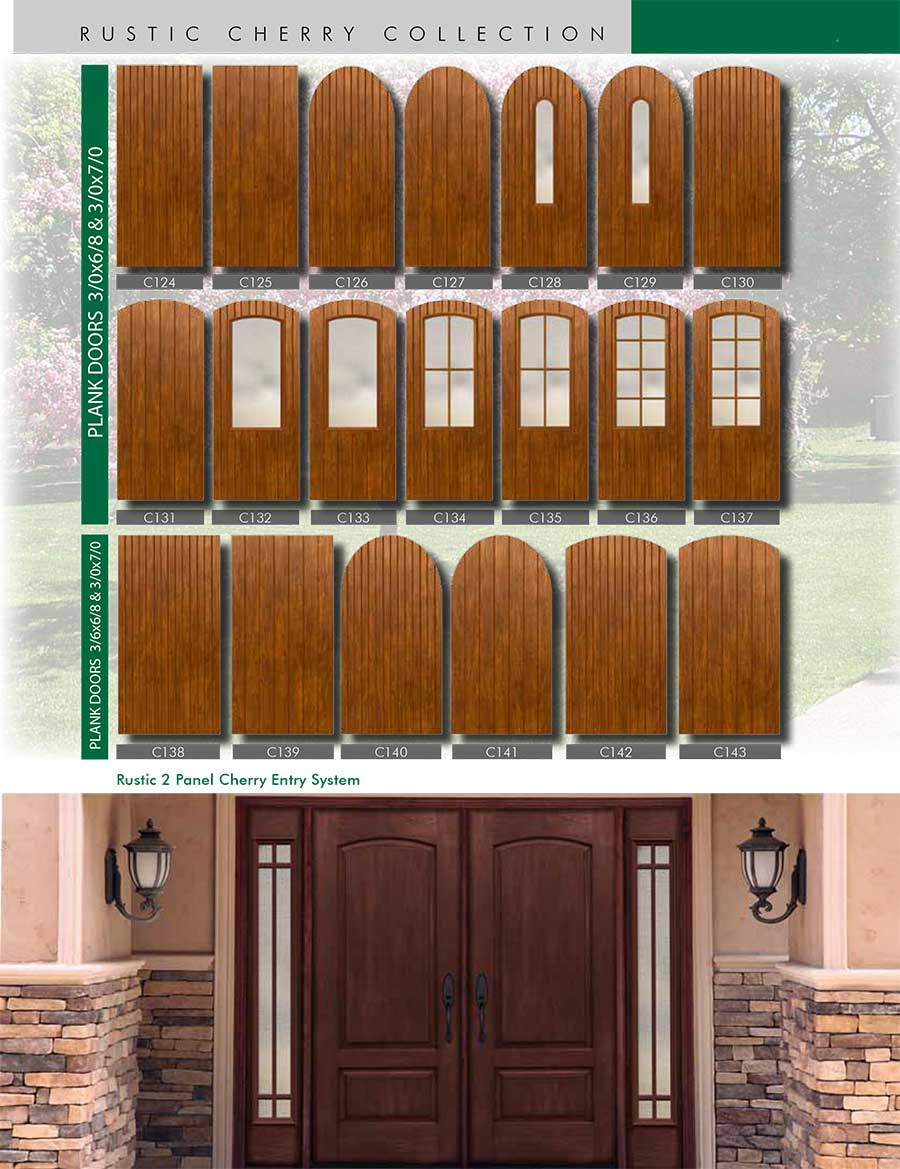 Richerson MasterGrain Premium Fiberglass Entry Doors  Richerson Rustic  Cherry Collection Rustic 2 Panel Cherry ENtry System By Fiberglass Doors  Toronto