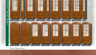 Richerson MasterGrain Premium Fiberglass Entry Doors- Richerson Rustic Cherry Collection by fiberglassdoorstoronto