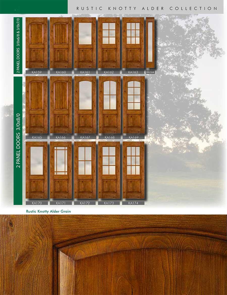 Richerson MasterGrain Premium Fiberglass Entry Doors- Richerson Rustic Knotty Collection-Rustic Rustic Knotty Alder Grain by Fiberglass Doors Toronto