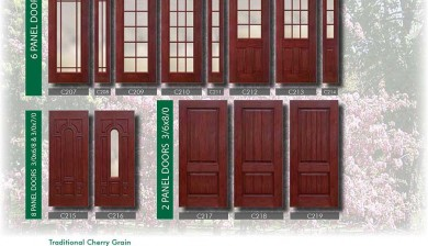 Richerson MasterGrain Premium Fiberglass Entry Doors- Richerson Rustic Traditional Cherry Collection-Traditional Cherry Grain by Fiberglass Doors Toronto