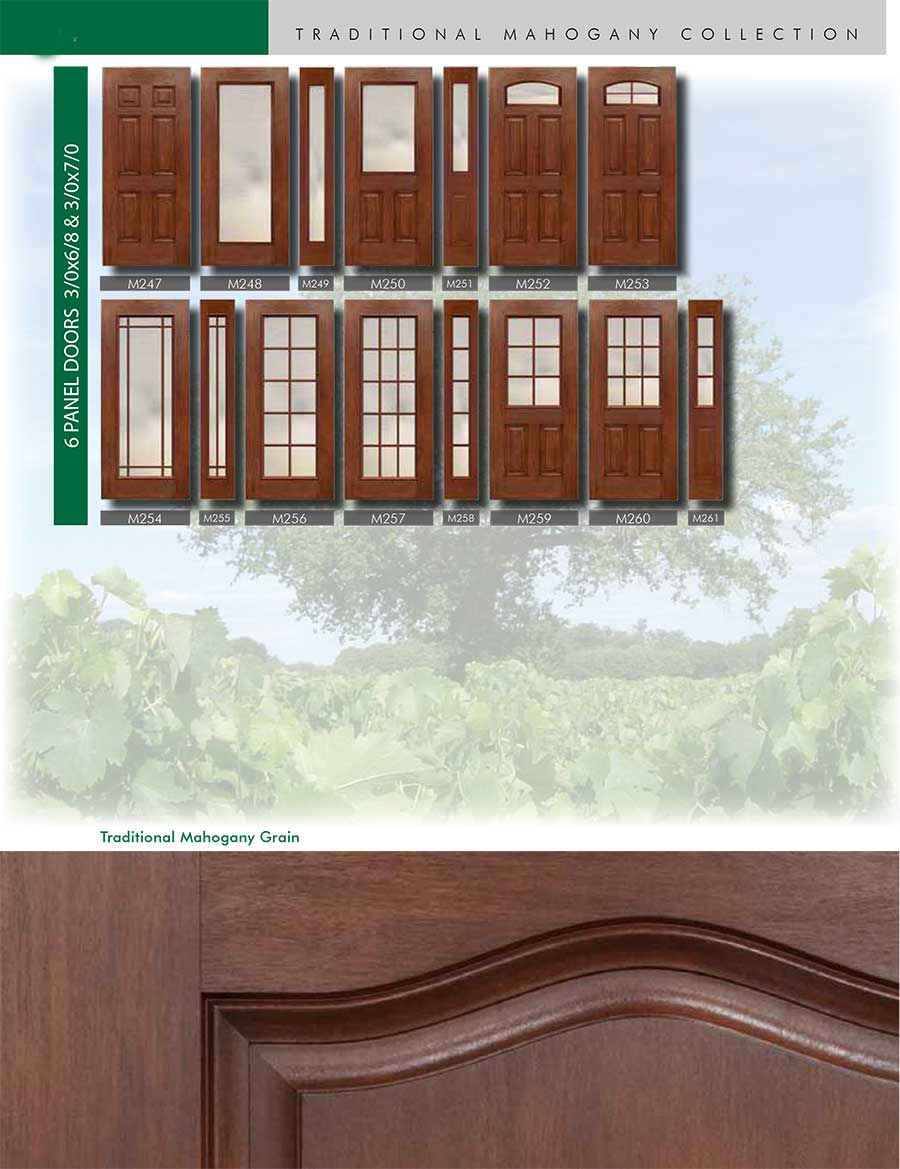 Richerson MasterGrain Premium Fiberglass Entry Doors- RichersonTraditional Mahogany Collection-Traditional Mahogany Grain by Fiberglass Doors Toronto