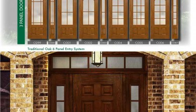 Richerson MasterGrain Premium Fiberglass Entry Doors- RichersonTraditional Oak Collection-Traditional Oak 6 Panel Entry Doors by Fiberglass Doors Toronto