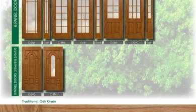 Richerson MasterGrain Premium Fiberglass Entry Doors- RichersonTraditional Oak Collection-Traditional Oak Grain by Fiberglass Doors Toronto