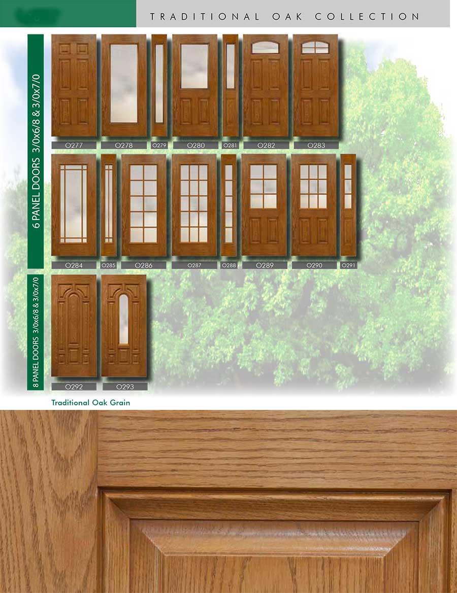 Richerson MasterGrain Premium Fiberglass Entry Doors- RichersonTraditional Oak Collection-Traditional Oak Grain by Fiberglass Doors Toronto