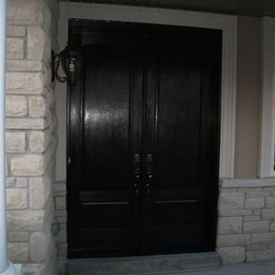 17-Fiberglass Doors After Installation, Fiberglass Solid Double Doors with Multi Point Locks Installed by Fiberglass Doors Toronto