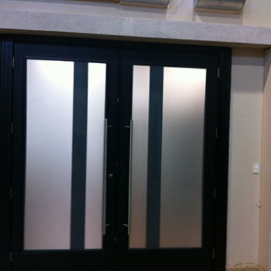 8 Foot Fiberglass Doors, Exterior Modern Doors with Frosted Glass by Fiberglass Doors Toronto