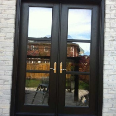 8-Foot-Fiberglass-Doors, French-Door-Installed-in-Back-Yard- by Fiberglass Doors Toronto in-Markham