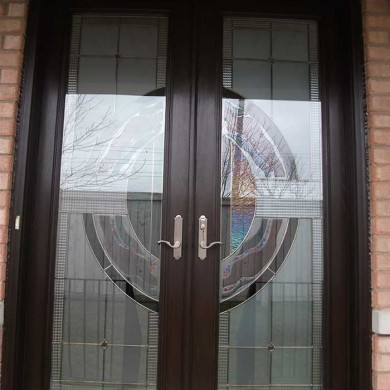 8-Foot-Fiberglass Doors, Milan-Design-Exterior Door-Installed- by Fiberglass Doors Toronto in-Woodbridge