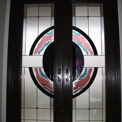 8-Foot-Fiberglass Doors Milan-Design-Exterior Door-Installed- by Fiberglass Doors Toronto in-Woodbridge-Inside-View