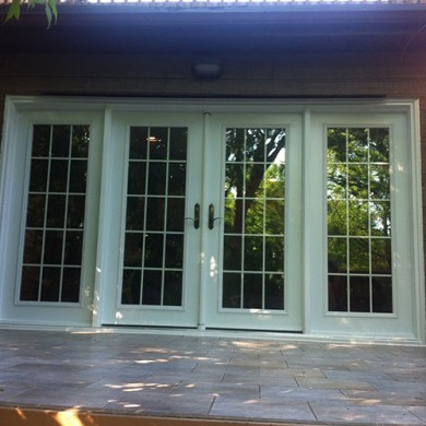 8 Foot French Fiberglass Doors Installed by Fiberglass Doors Toronto