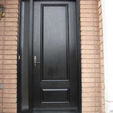 8-Foot-Single-Solid-Fiberglass-Door-with-Slim-Side-Lite -Installed- by Fiberglass Doors Toronto in-Oshawa