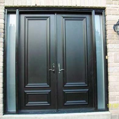 8 foot Smooth Fiberglass Solid Doors installed by Fiberglass Doors Toronto