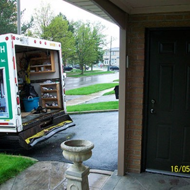 Black Smooth Entrance Fiberglass Door Installed by Fiberglass Doors Toronto
