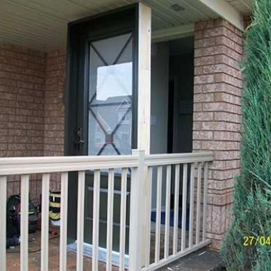 Excalibur Smooth Fiberglass Single Door Installed by Fiberglass Doors Toronto