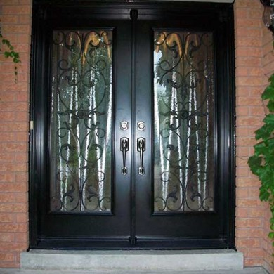 Exterior Smooth Primvera Design Fiberglass Doors installation by Fiberglass Doors Toronto